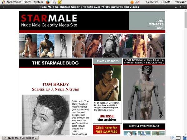 Discount Starmale Sign Up