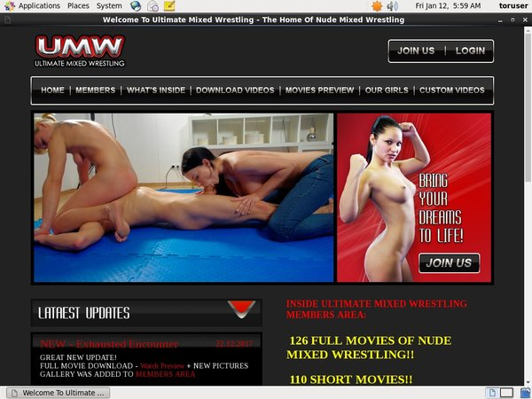 Log In Ultimatemixedwrestling