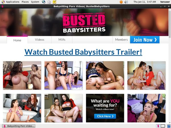 Freebustedbabysitters.com Password